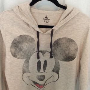 Disney Tops - Gray Distressed Mickey spring* weight hoodie